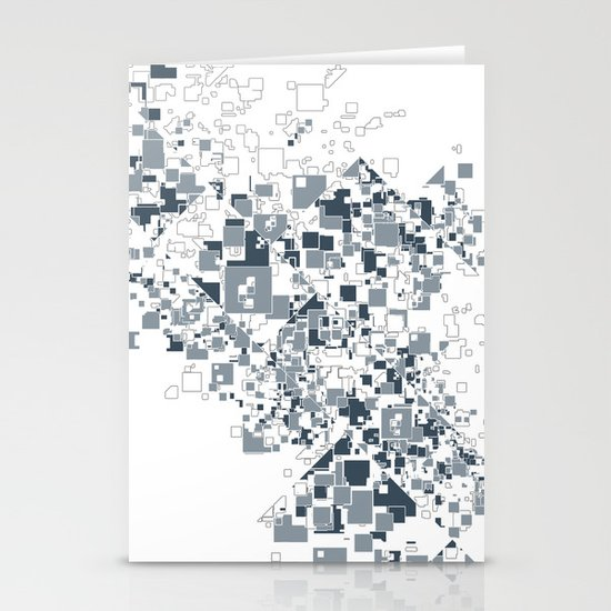 Broken and pixels  Stationery Card