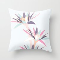 Icy Waterlilies Throw Pillow