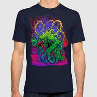 RISE, TENDRIL, RISE! Mens Fitted Tee Navy SMALL