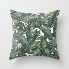 banana leaf 3 Throw Pillow