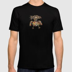 The Green Parrot SMALL Black Mens Fitted Tee