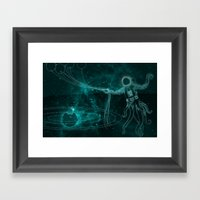 A Birthday Spacetacle! Framed Art Print