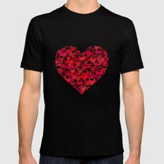 Skull Heart SMALL Mens Fitted Tee Black