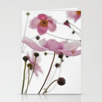 Pink Wild Flowers Stationery Cards