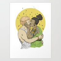 Making Out No1 Art Print
