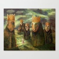 In The Company Of Kings Canvas Print