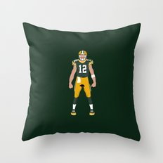 Cheese Head - Aaron Rodgers Throw Pillow