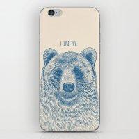 Bear (Ivory) iPhone & iPod Skin