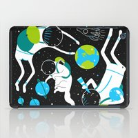 A Day Out In Space - Bla… iPad Case