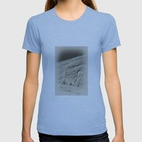 Yosemite Half Dome Hiker… Womens Fitted Tee Athletic Blue SMALL