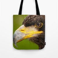 Intense Gaze of a Golden Eagle Tote Bag