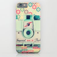iPhone & iPod Case featuring Film Mint Camera on a Colourful Retro Background  by AC Photography
