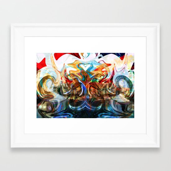 liquified space Framed Art Print