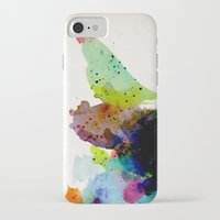 bird iPhone & iPod Cases featuring Bird standing on a tree by contemporary