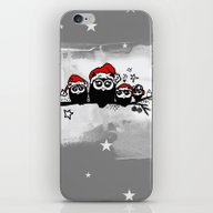 Christmas Owls iPhone & iPod Skin