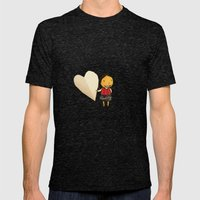 Share your Heart Mens Fitted Tee Tri-Black SMALL