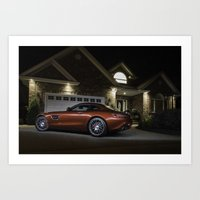 Mercedes-AMG GT S at Night Art Print
