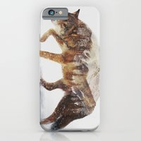 wolf iPhone & iPod Cases featuring Arctic Wolf by Andreas Lie