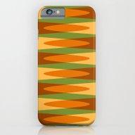 Retro Pattern Orange Gre… iPhone 6 Slim Case
