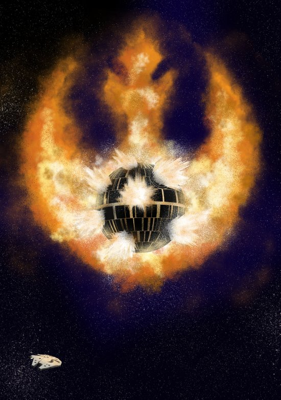 Death Star Destruction Art Print