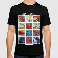Secret garden composition Mens Fitted Tee Black SMALL