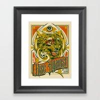Rise Against Band Poster… Framed Art Print