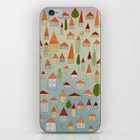 100 little houses iPhone & iPod Skin