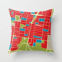 Vintage Style Map of Yarraville Throw Pillow
