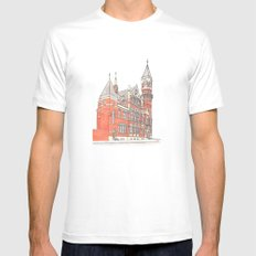 NYC Jefferson Market Library Mens Fitted Tee SMALL White