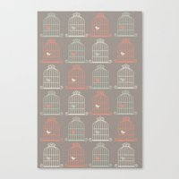 Bird Cage Pattern, Illus… Canvas Print
