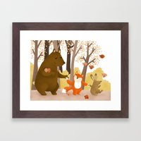 Friends Of The Forest Framed Art Print