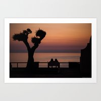 Dusk in Sperlonga Art Print