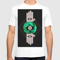 DREVM EYE Mens Fitted Tee White SMALL