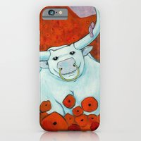 iPhone & iPod Case featuring Bull In Poppies by Joshua James Stewart