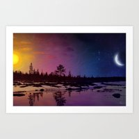 Day And Night - Painting Art Print