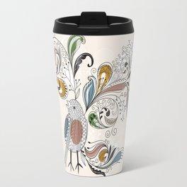 Travel Mug - Floral Bird - UniqueD