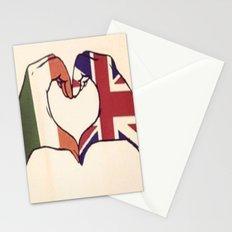 One Direction Inspired UK/Irish Love Heart Stationery Cards