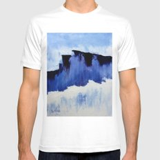 Cold Blue White SMALL Mens Fitted Tee