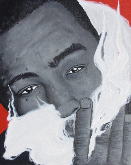 Bay Area Rap Artist The Jacka Smoking Art Print