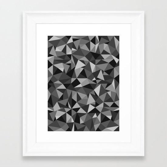 Graphic Geometric Pattern Framed Art Print