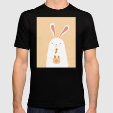 I promise nicely eat carrots. SMALL Mens Fitted Tee Black