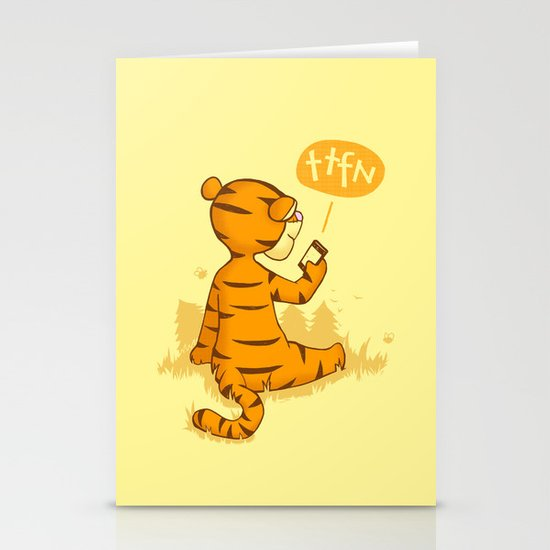 Ta Ta For Now Stationery Card