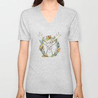 Deer Wreath Unisex V-Neck