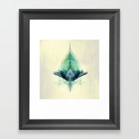 The Feathered Tribe Abstract / I Framed Art Print