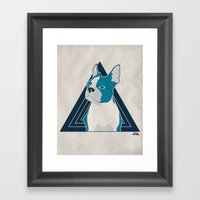 In Dog We Trust. Framed Art Print