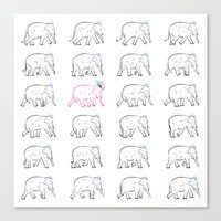 The Pink Elephant Canvas Print