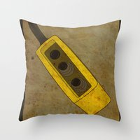 Throw Pillow featuring Alternative Terminator 2 Movie Poster by maclac