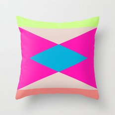 NEON BLOCKED Throw Pillow