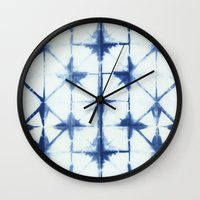 Shibori Thirteen Wall Clock