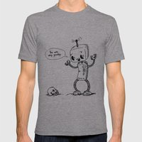 Loving Robot Mens Fitted Tee Athletic Grey SMALL